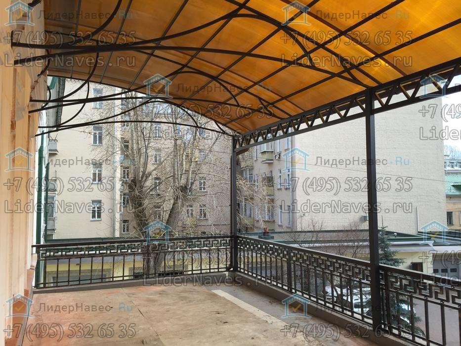 Навес - козырек над балконом из поликарбоната. цена. фото..