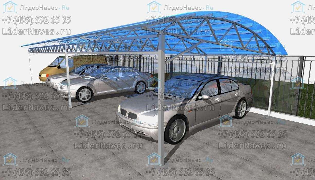 павильон из поликарбоната ширина 8 м схема проект